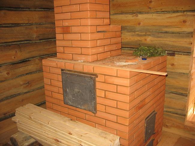 Строим печь для бани из кирпича своими руками