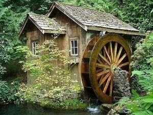 Дизайн водяной мельницы
