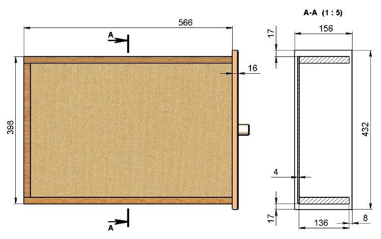 Размеры ящика для письменного стола.