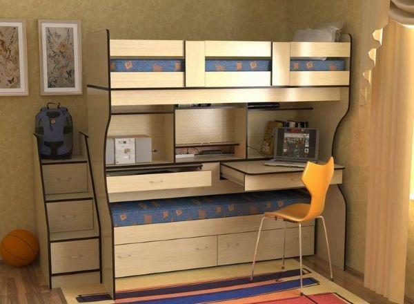 Двухъярусная_кровать-стол