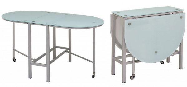 Те, кто предпочитает кухню в стиле хай-тек, могут выбрать модель из стекла и металла.