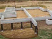 стобчато-ленточный фундамент