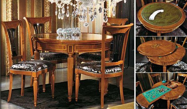 Круглый стол-трансформер (рулетка + карточный стол).