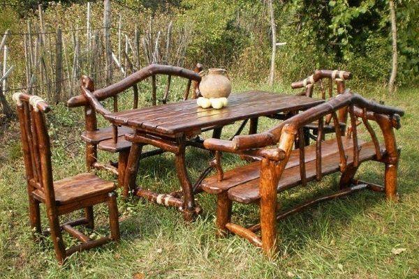 Мебель из коряг и веток