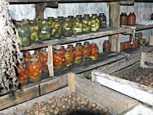 Овощная яма в гараже