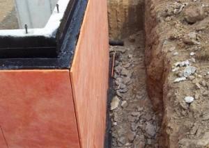 Монтаж пеноплекса поверх гидроизоляционного материала