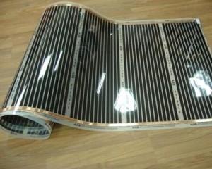 Электрический теплый пол может представлять собой очень тонкий пленочный материал