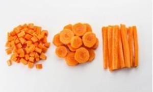 Овощ сварится в два раза быстрее, если нарезать его кубиками
