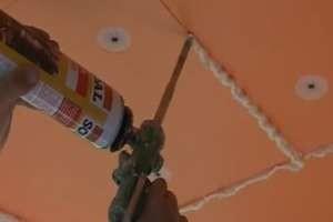 Как крепить пеноплекс к бетонному потолку