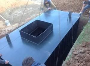 Установка емкости для погреба в котлован