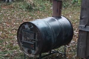 Пиролизная печь из металлической бочки