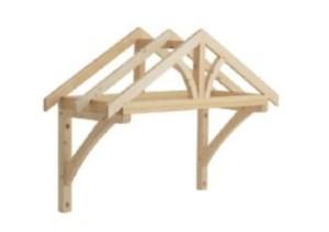 Из древесины изготавливают двускатные, плоские и шатровые навесы