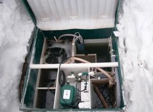 Консервации септика Топас на зиму