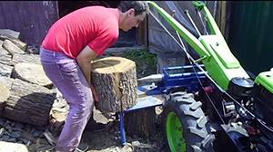 Конструкция дровокола с ременной передачей
