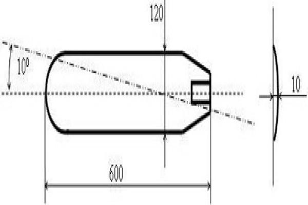 Чертеж стандартного алюминиевого элемента для шестилопастного колеса
