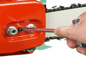 Регулировка натяжения цепи
