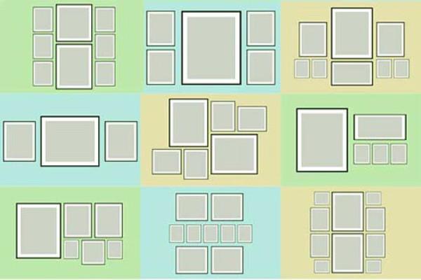 Схема удачного расположения модульных картин