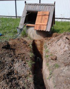 Водопровод от колодца на даче своими руками