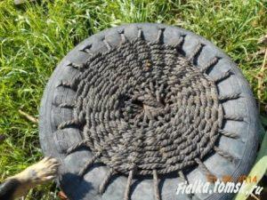 Как сделать батут из шины