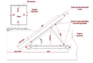Крепление каркаса кровати (нажмите для увеличения)
