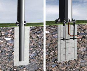 Столб для электричества на даче