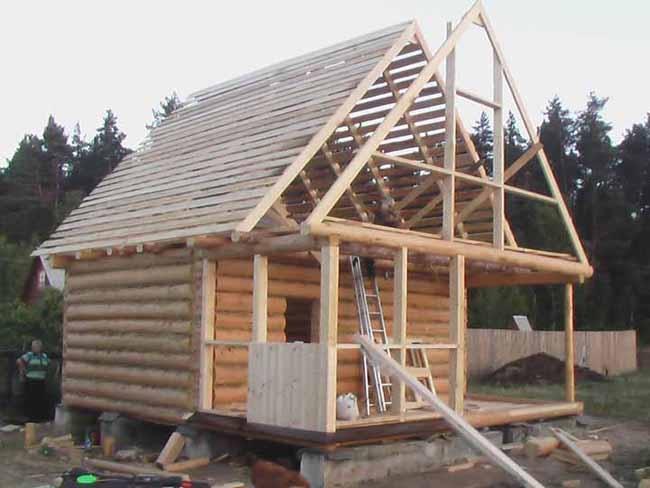 Крыша на баню своими руками пошагово. Как сделать односкатную крышу для бани своими руками: пошаговая инструкция, видео