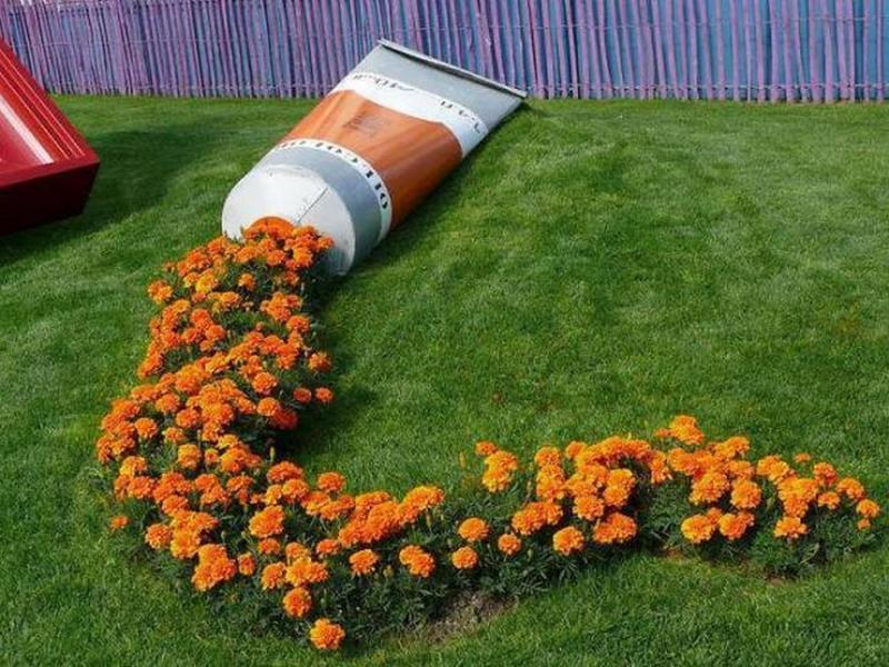 15 оригинальных идей для оформления клумб и цветников