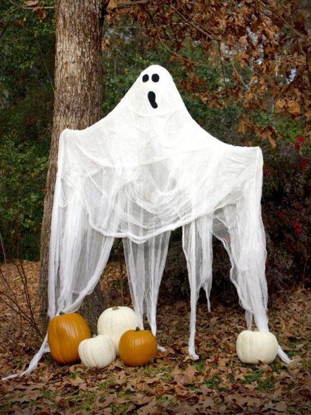 украшение участка к хэллоуину