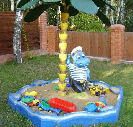 Песочница по мотивам игрушек из киндер-сюрприза