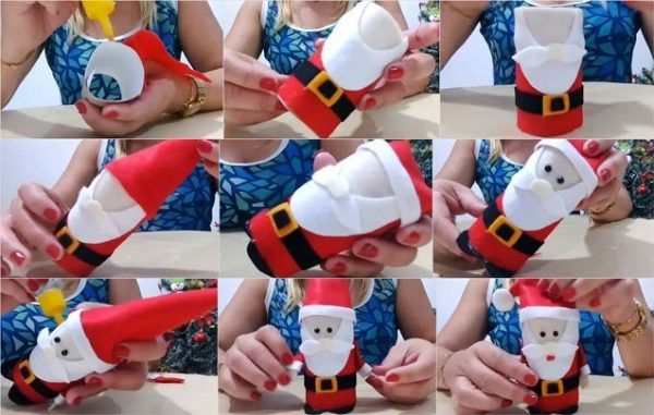 Изготовление картонного Деда Мороза