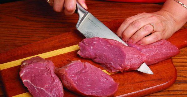 Нарезка говядины для отбивных