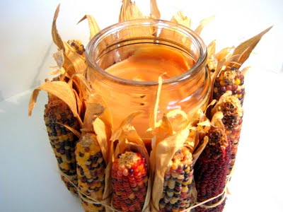 Подсвечник с декором кукурузой