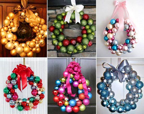 Варианты рождественских венков