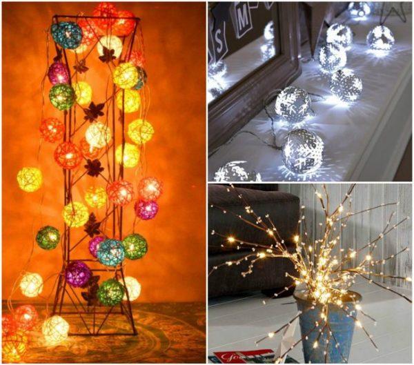 Светящиеся элементы украшения