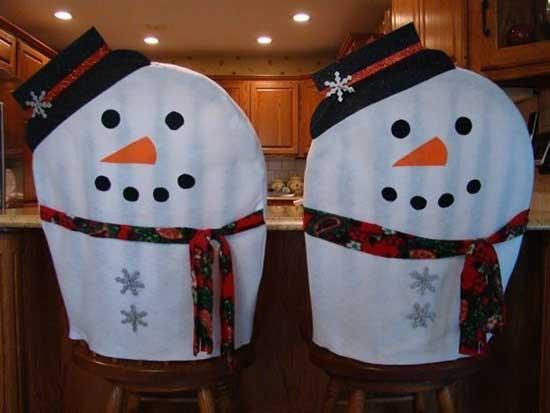 Чехлы в виде снеговиков