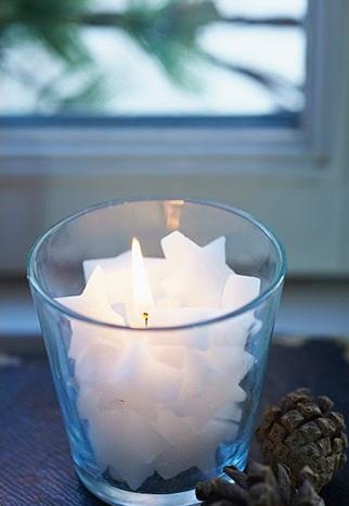 Свечи в виде звёздочек