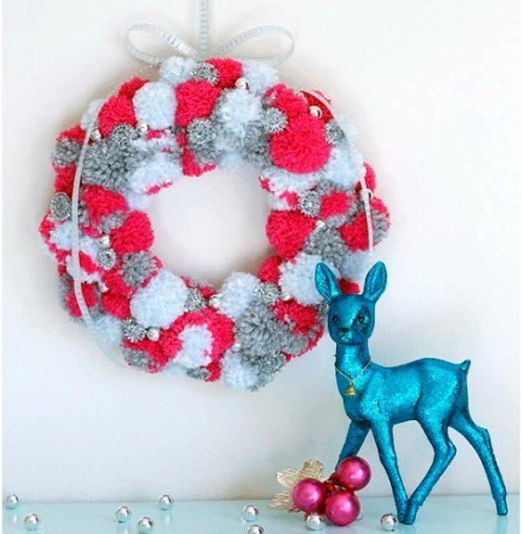 Мягкий рождественский венок