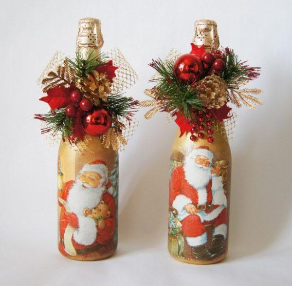 Новогодняя бутылка