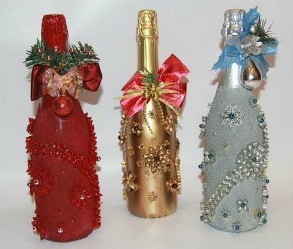Бантики на бутылках