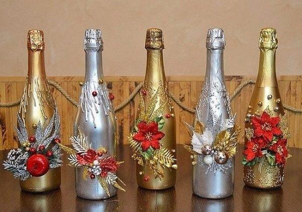 Покрашенные бутылки
