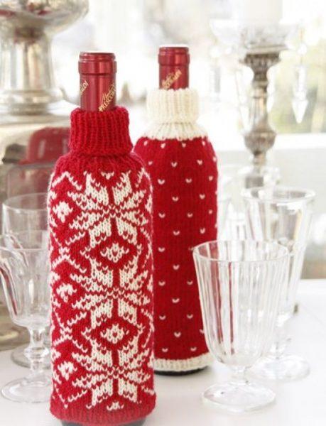 Вязаные бутылки