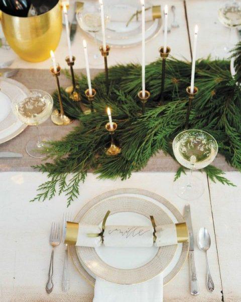 Рождественский уголок на столе