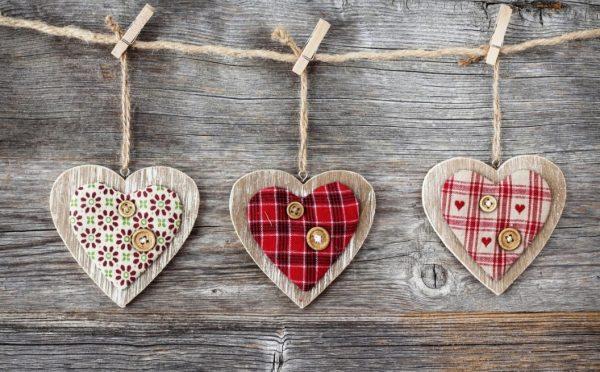 Деревянные сердечки
