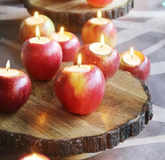 Свечи из яблок