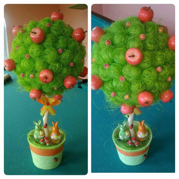 Яблочное дерево из сизаля