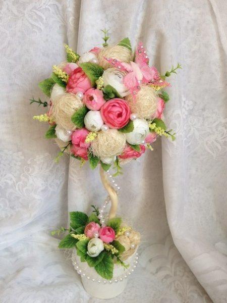 Сизаль и цветы