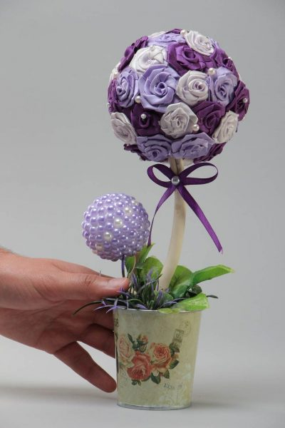 Фиолетовый топиарий