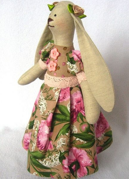 Тильда в летнем платье