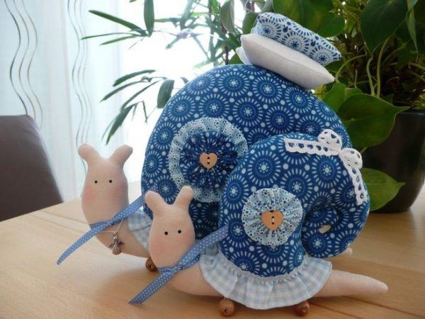 Синие игрушки Тильда