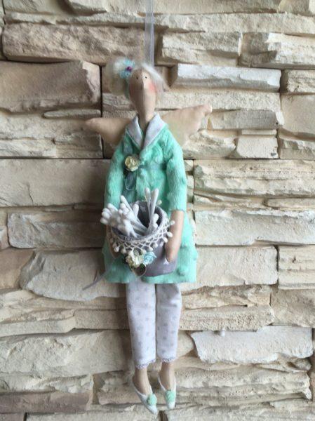 Кукла Тильда с ватными палочками